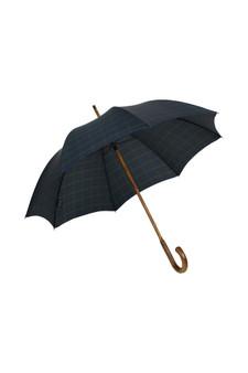 Gents Hickory Solid Stick Umbrella - Black Watch Tartan