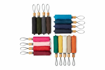 Small auto-open auto-close  folding umbrella - classic colours
