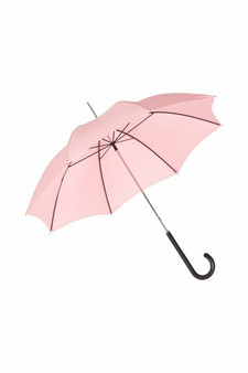Ladies City Slim Ince Umbrella with a Black Leather Handle