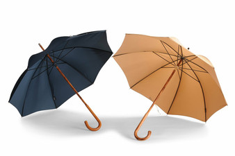 Ladies Maple Solid Stick Umbrellas - Classic Colours