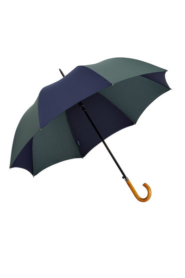 "James Ince 27"" Auto Golf Umbrella - Mackenzie - Crook wooden handle"