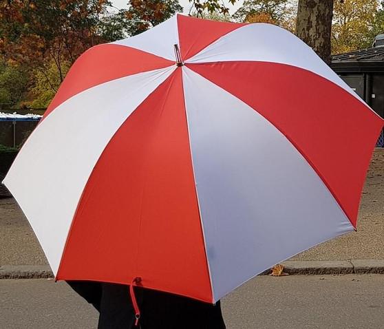 "30"" Golf Umbrella - Red & White"