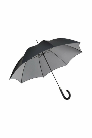 Gents City Slim Umbrella - Double Sided Black/Silver