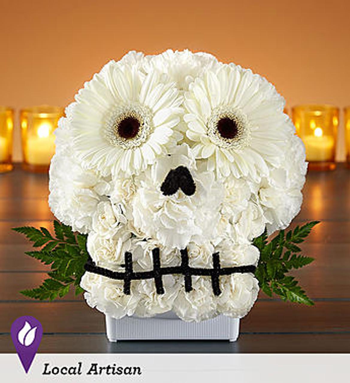 Spooky Skull Flower Arrangement Conroy S Flowers