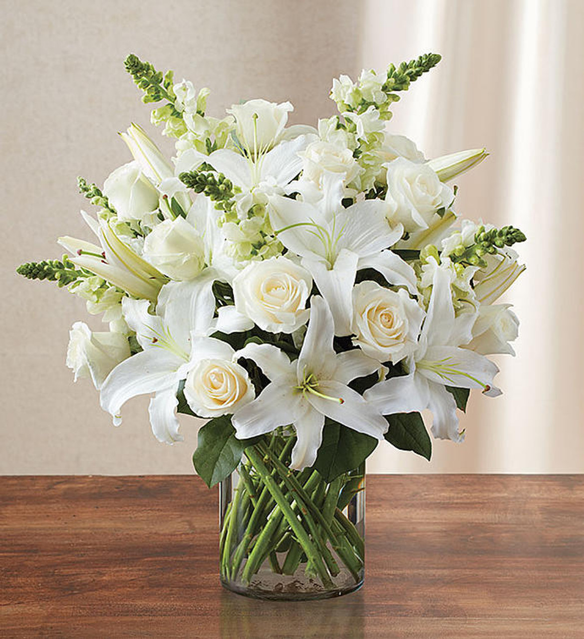 Classic All White Arrangement For Sympathy Conroy S