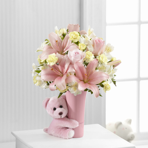 Baby Girl Big Hug Bouquet Flowers Simi Valley