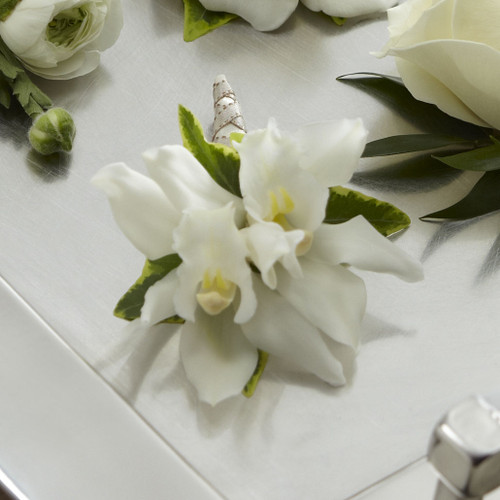 White Mini Cymbidium Boutonniere Simi Valley Flower Delivery