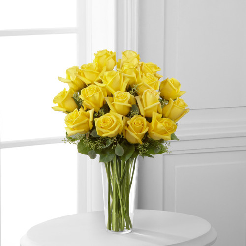 18 Yellow Rose Bouquet Florist Simi Valley