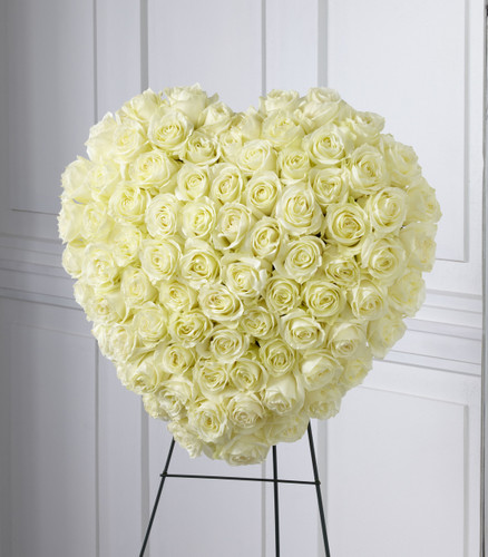 The Elegant Remembrance Standing Heart Flowers Simi Valley