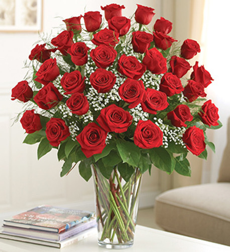 Just what your special someone deserves -- a stunning bouquet of three dozen premium long-stem red roses, which delivers smiles in spectacular style. It's the ultimate expression of your feelings, and is sure to always be remembered.