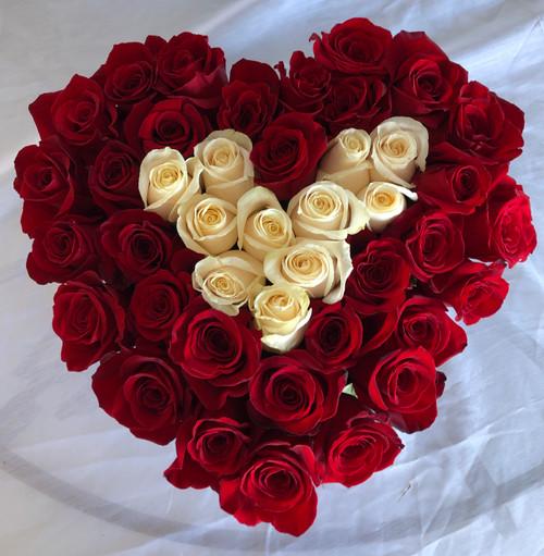 Elegant Rose Heart Box