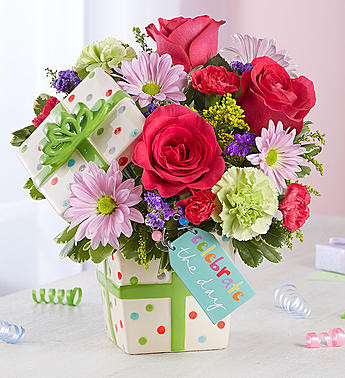 Happy Birthday Present Bouquet EXCLUSIVE Whatever Their Reason For Celebrating Add To The Festivity With