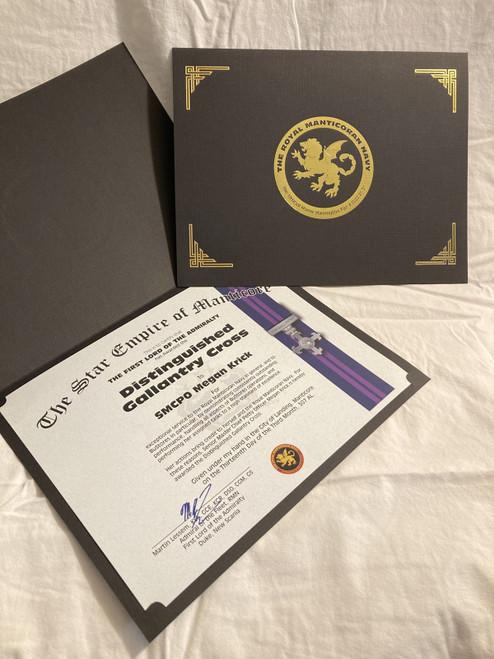 Civilian Award Certificate