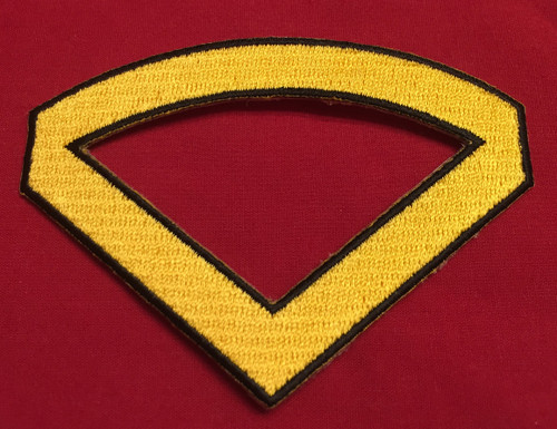 Multi-Service Enlisted Chevron/Rocker Combo (Yellow)