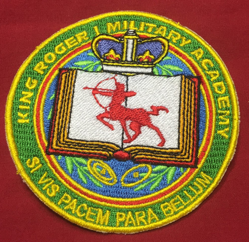 King Roger Military Academy Patch