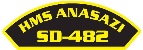 50 patches of HMS Anasazi SD-482.  Please be aware if this is the first run, 11 of those patches will be withheld for our legal obligation. After the initial order, all 50 patches will be shipped.
