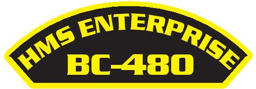 50 patches of HMS Enterprise BC-480.  Please be aware if this is the first run, 11 of those patches will be withheld for our legal obligation. After the initial order, all 50 patches will be shipped.