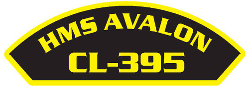50 patches of HMS Avalon CL-395.  Please be aware if this is the first run, 11 of those patches will be withheld for our legal obligation. After the initial order, all 50 patches will be shipped.