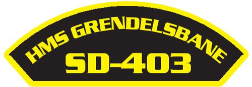 50 patches of HMS Grendelsbane SD-403.  Please be aware if this is the first run, 11 of those patches will be withheld for our legal obligation. After the initial order, all 50 patches will be shipped.