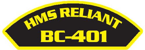 50 patches of HMS Reliant BC-401.  Please be aware if this is the first run, 11 of those patches will be withheld for our legal obligation. After the initial order, all 50 patches will be shipped.