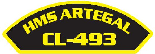 50 patches of HMS Artegal CL-493.  Please be aware if this is the first run, 11 of those patches will be withheld for our legal obligation. After the initial order, all 50 patches will be shipped.