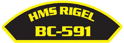 50 patches of HMS Rigel BC-591.  Please be aware if this is the first run, 11 of those patches will be withheld for our legal obligation. After the initial order, all 50 patches will be shipped.