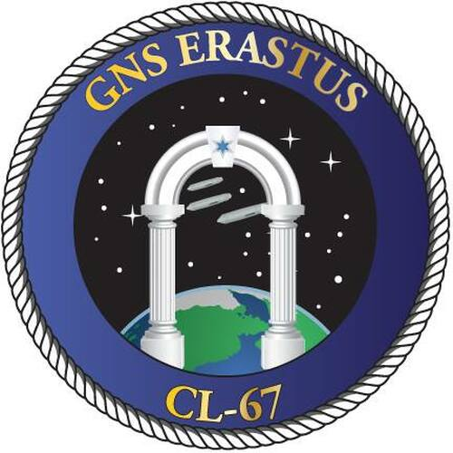 50 patches of GNS Erastus CL-67.  Please be aware if this is the first run, 11 of those patches will be withheld for our legal obligation. After the initial order, all 50 patches will be shipped.