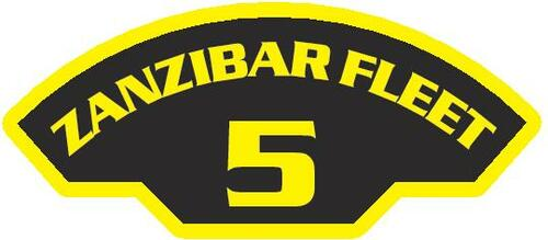 50 patches of 5th Zanzibar Fleet.  Please be aware if this is the first run, 11 of those patches will be withheld for our legal obligation. After the initial order, all 50 patches will be shipped.