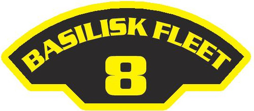 50 patches of 8th Basilisk Fleet.  Please be aware if this is the first run, 11 of those patches will be withheld for our legal obligation. After the initial order, all 50 patches will be shipped. Remember only fleet command triads can wear these on a uniform.