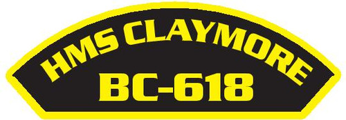 50 patches of HMS Claymore BC-618.  Please be aware if this is the first run, 11 of those patches will be withheld for our legal obligation. After the initial order, all 50 patches will be shipped.