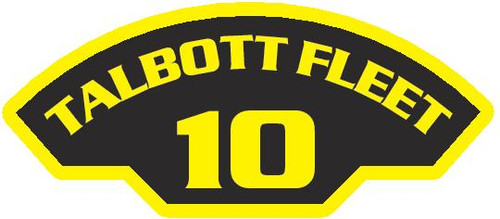 50 patches of 10th Talbott Fleet.  Please be aware if this is the first run, 11 of those patches will be withheld for our legal obligation. After the initial order, all 50 patches will be shipped. Remember only fleet command triads can wear these on a uniform.
