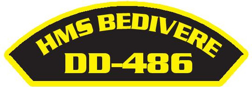 50 patches of HMS Bedivere DD-486.  Please be aware if this is the first run, 11 of those patches will be withheld for our legal obligation. After the initial order, all 50 patches will be shipped.