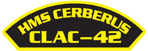 50 patches of HMS Cerberus CLAC-42.  Please be aware if this is the first run, 11 of those patches will be withheld for our legal obligation. After the initial order, all 50 patches will be shipped.