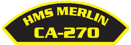 50 patches of HMS Merlin CA-270.  Please be aware if this is the first run, 11 of those patches will be withheld for our legal obligation. After the initial order, all 50 patches will be shipped.