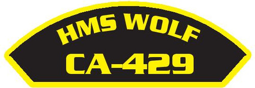 50 patches of HMS Wolf CA-429.  Please be aware if this is the first run, 11 of those patches will be withheld for our legal obligation. After the initial order, all 50 patches will be shipped.