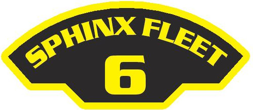 50 patches of 6th Sphinx Fleet.  Please be aware if this is the first run, 11 of those patches will be withheld for our legal obligation. After the initial order, all 50 patches will be shipped. Remember only fleet command triads can wear these on a uniform.