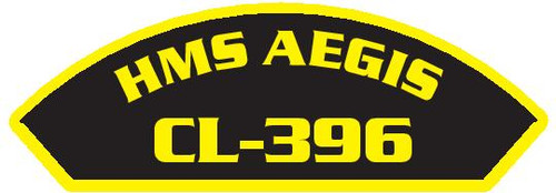 50 patches of HMS Aegis CL-396.  Please be aware if this is the first run, 11 of those patches will be withheld for our legal obligation. After the initial order, all 50 patches will be shipped.