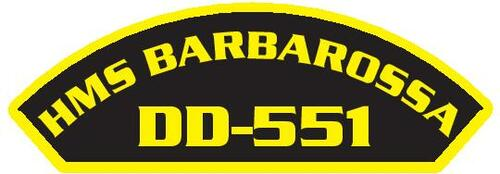 50 patches of HMS Barbarossa DD-551.  Please be aware if this is the first run, 11 of those patches will be withheld for our legal obligation. After the initial order, all 50 patches will be shipped.