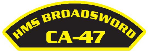 50 patches of HMS Broadsword CA-47.  Please be aware if this is the first run, 11 of those patches will be withheld for our legal obligation. After the initial order, all 50 patches will be shipped.