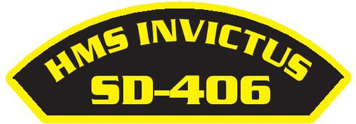 50 patches of HMS Invictus SD-406.  Please be aware if this is the first run, 11 of those patches will be withheld for our legal obligation. After the initial order, all 50 patches will be shipped.