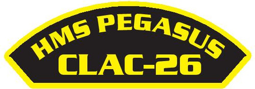 50 patches of HMS Pegasus CLAC-26.  Please be aware if this is the first run, 11 of those patches will be withheld for our legal obligation. After the initial order, all 50 patches will be shipped.
