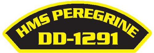 50 patches of HMS Peregrine DD-1291.  Please be aware if this is the first run, 11 of those patches will be withheld for our legal obligation. After the initial order, all 50 patches will be shipped.