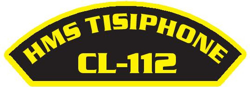 50 patches of HMS Tisiphone CL-112.  Please be aware if this is the first run, 11 of those patches will be withheld for our legal obligation. After the initial order, all 50 patches will be shipped.