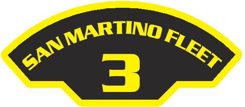 50 patches of 3rd San Martino Fleet.  Please be aware if this is the first run, 11 of those patches will be withheld for our legal obligation. After the initial order, all 50 patches will be shipped. Remember only fleet command triads can wear these on a uniform.