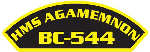 50 patches of HMS Agamemnon BC-544.  Please be aware if this is the first run, 11 of those patches will be withheld for our legal obligation. After the initial order, all 50 patches will be shipped.