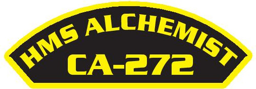 50 patches of HMS Alchemist CA-272.  Please be aware if this is the first run, 11 of those patches will be withheld for our legal obligation. After the initial order, all 50 patches will be shipped.
