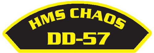 50 patches of HMS Chaos DD-57.  Please be aware if this is the first run, 11 of those patches will be withheld for our legal obligation. After the initial order, all 50 patches will be shipped.