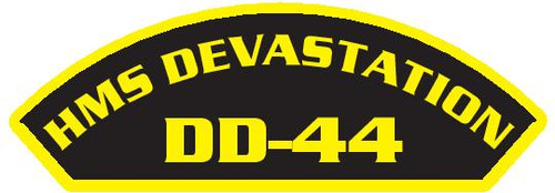 50 patches of HMS Devastation DD-44.  Please be aware if this is the first run, 11 of those patches will be withheld for our legal obligation. After the initial order, all 50 patches will be shipped.
