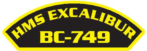 50 patches of HMS Excalibur BC-749.  Please be aware if this is the first run, 11 of those patches will be withheld for our legal obligation. After the initial order, all 50 patches will be shipped.