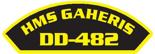 50 patches of HMS Gaheris DD-482.  Please be aware if this is the first run, 11 of those patches will be withheld for our legal obligation. After the initial order, all 50 patches will be shipped.